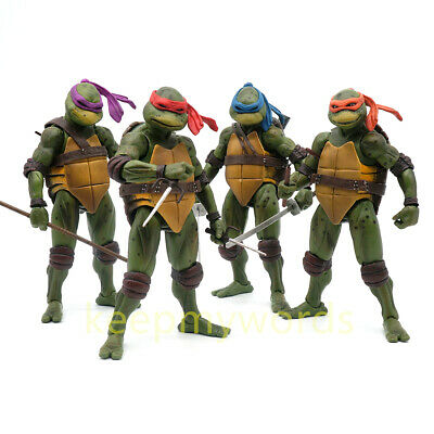 "NECA TMNT Teenage Mutant Ninja Turtles Action Figure 1990 Movie 7"" PVC Model Toy"