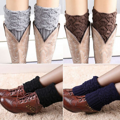 Bas Guetre Jambieres Cuissard Legging Chausettes Hiver Chaud Tresse Tricot  U4E3