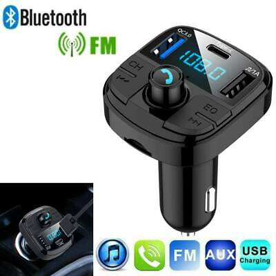 Inalámbrico Bluetooth Manos Libres Car Kit FM Transmisor USB Cargador MP3/Player