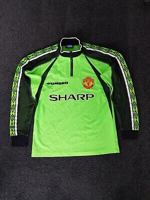 1998-99 Umbro Manchester United Rare Goalkeeper shirt Size (Y) XL Boys