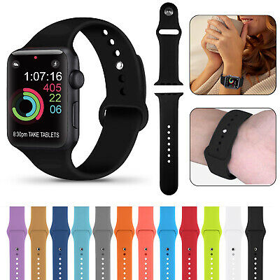 For Apple Watch iWatch 3 4 5 38/40/42/44mm Soft Silicone Sport Strap Wrist Band