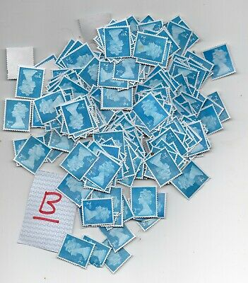 1000 2nd Class Unfranked Blue Security Stamps B graded seconds
