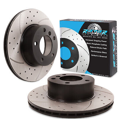 Turbo Grooved Upgraded Front Brake Discs EBC GD Sport Rotors GD1690 Pair