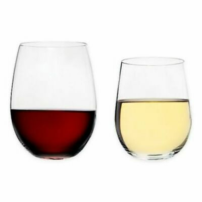 Riedel O Chardonnay and Cabernet Stemless Wine Glasses - Set of 8
