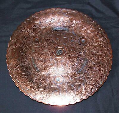 Superb Antique Islamic Persian Silver Copper Inlaid Cairoware Mamluk Arabic Tray