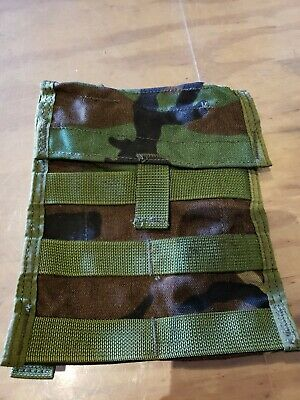US Army Military Woodland Molle II Admin Utility Map Admin Pouch
