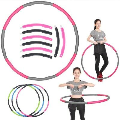 Colourful Collapsible 1KG Weighted Hula Hoop Indoor Fitness Gym Workout Hoola