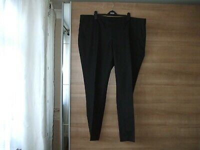 BNWOT Mens Smart Black Flat Front Trousers by Williams&Brown  Size W 48 L 31