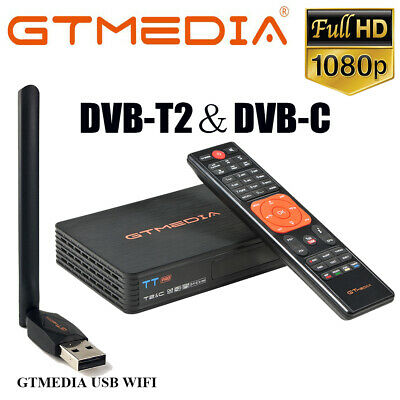 Digital Satellite DVB-T2 DVB-C Receiver 1080P HD H.265 Gtmedia Decorder FTA WIFI