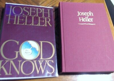 *GOD KNOWS by JOSEPH HELLER SIGNED/*1984 RARE FINE 1st Edition/1st Issue/FINE DJ