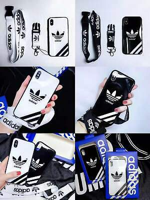 Adidas Classic 3-Stripes Glossy Hard Case for iPhone X Xs Max XR iPhone 7 8 Plus
