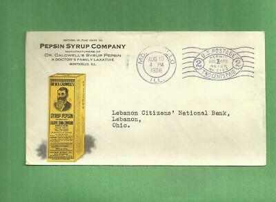 1938 Advertising Envelope Dr. CALDWELL'S PEPSIN SYRUP Monticello Illinois