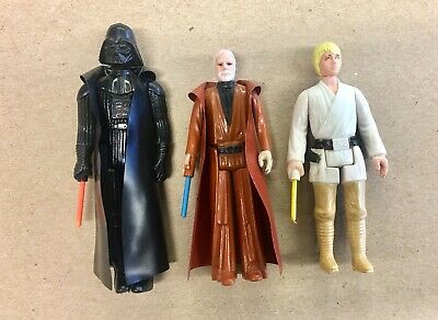 Kenner 1977 Star Wars Darth Vader/ Obi Wan/ Luke Skywalker- Original Lightsabers