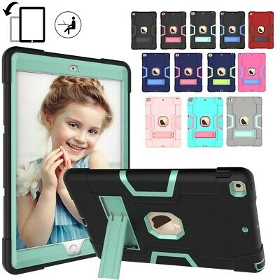 "For iPad 7th Generation 10.2"" 2019 Silicone Military Tough Stand Shockproof Case"