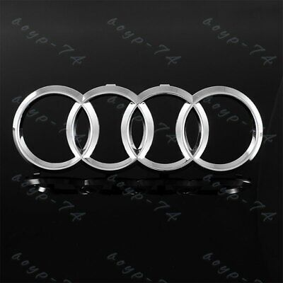 Chrome Grill For Audi Rings Front Hood A1 A3 A4 S4 A5 S5 A6 S6 SQ7 Badge Emblem
