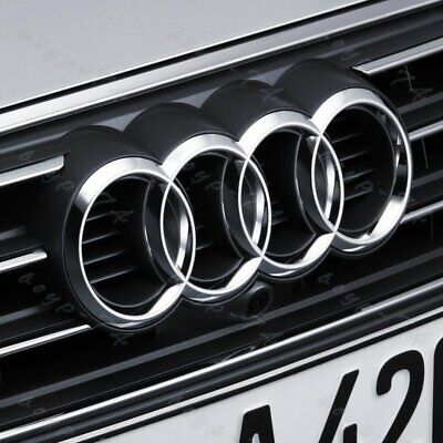 Chrome Grill For Audi Rings Front Hood A3 A4 S4 A5 S5 A6 SQ7 TT Badge Emblem