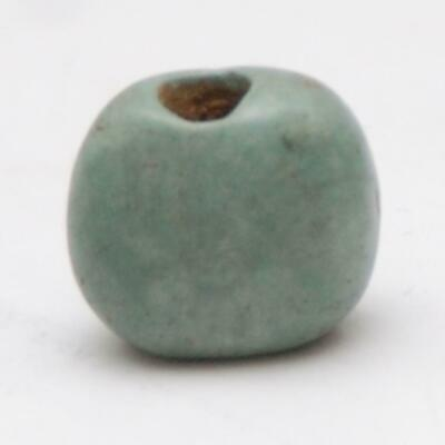 PRE-COLUMBIAN_Mesoamerican_Greenstone Bead_10.5 x 11.9 x 6.9mm_1.3 grams