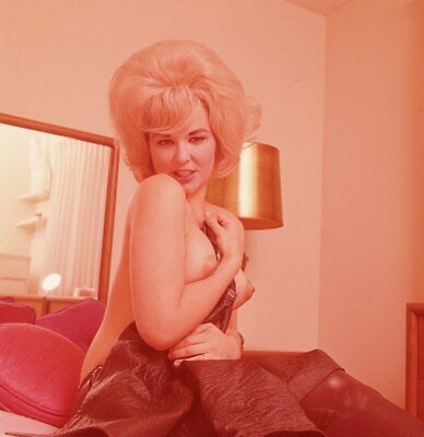 1960s Ron Vogel Transparency, busty nude blonde pin-up girl, cheesecake, t248304