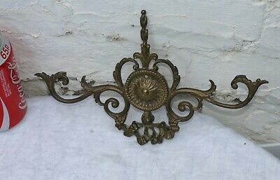 Large Reclaimed Art Nouveau ? Brass Clock Finial Pediment