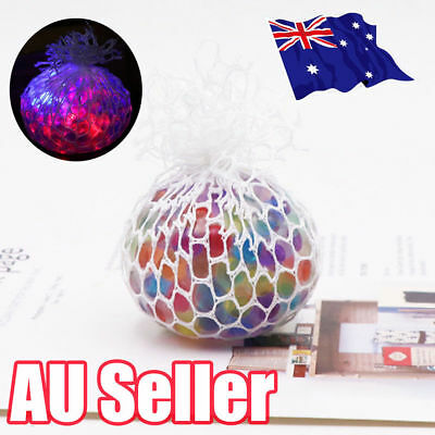 Novelty Anti-Stress Glowing Squishy Mesh Venting Ball Grape Squeeze Toy Good ZV