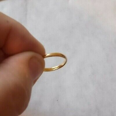 ANTIQUE 22 CARAT GOLD WEDDING RINGS. FULLY HALLMARKED. WEIGH 2.4g MAKER A C Co.