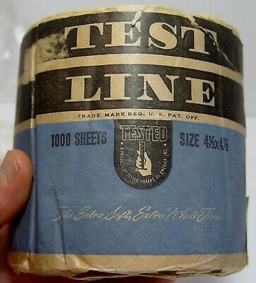 Test Line Toilet Paper Roll Antique Advertising Vanity Bum Wad Ephemera Chicago