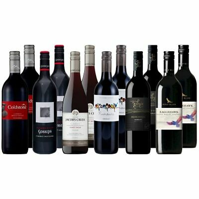 Spring Favourites Mixed Red Wine Dozen 12X750ML FEATURING PENFOLDS FREE SHIPPING