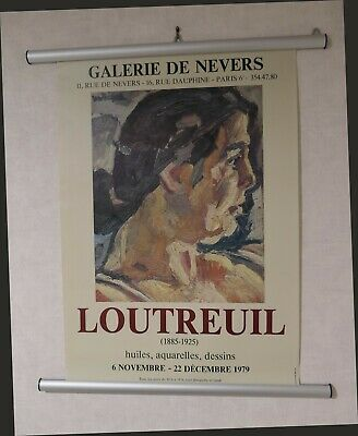 LOUTREUIL Affiche originale Expo Galerie de NEVERS 1979 Poster Collector