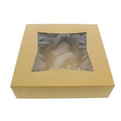 "SpecialT Easy Popup Pie Boxes with Window 10"" Inch Bakery boxes pie Containers"