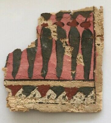 Ancient Egypt. Cartonnage (Mummy Casing) Fragment. (Circa 3Rd Century B.c).