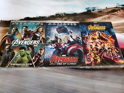Avengers Trilogy DVD 1 2 3 Brand New Sealed All 3 Movies!