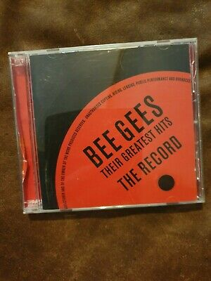 bee gees - their greatest hits/the record 2.cd set vgc