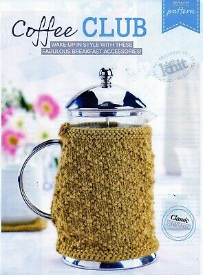 ~ Pull-Out Knitting Pattern For Cafetiere Cosy & Coaster ~ See Photos ~