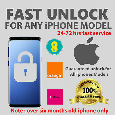 EE IPHONE UNLOCK CODE -XR,XS,X,8,8,PLUS,7,7 PLUS,6S 6S PLUS 100% ✅Super Fast