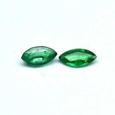 Natural Zambian Emerald Gemstone Fine Quality Faceted Marquise Cut 0.30Cts