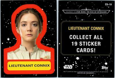 2019 Journey To Star Wars The Rise Of Skywalker Sticker Card Cs-19 Lt Connix