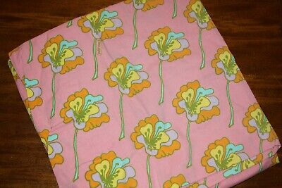 Vintage Peter Max Twin Size Fitted Sheet / Pop Art Floral Design