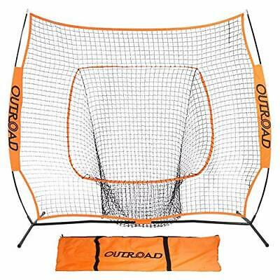 Heavy Duty Baseball Batting & Pitching Practice Net with Bow Frame - 7 x 7 Ft