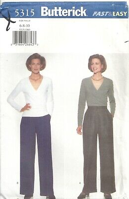 BUTTERICK Fast & Easy 5315 MISSES SIZE 6-8-10 TOP & PANTS SEWING PATTERN VINTAGE