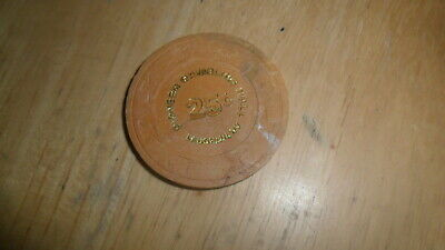 Vintage Pioneer Gambling Hall - 25 Cent Chip Laughlin Nevada