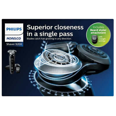 Philips Norelco 9000 Series 9200 Shaver Plus Beard Stubble Trimmer