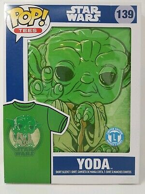 Star Wars Funko POP Limited Edition - Yoda Green Chrome ( Size Large) Tee