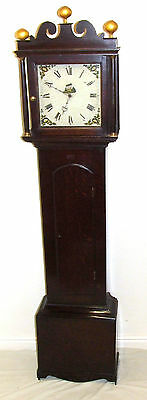 Early Petite Antique Oak Longcase Grandfather Clock