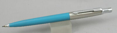 Parker Jotter Turquoise w/Stainless Cap .9mm Pencil - 1970's - Brass Threads