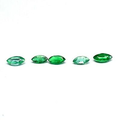 Natural Zambian Emerald Gemstone Fine Quality Faceted Marquise Cut 0.40 Cts