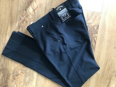 Callaway Golf Trousers. Thermal and Water Resistant. Black Size 32 Waist 32 Leg.