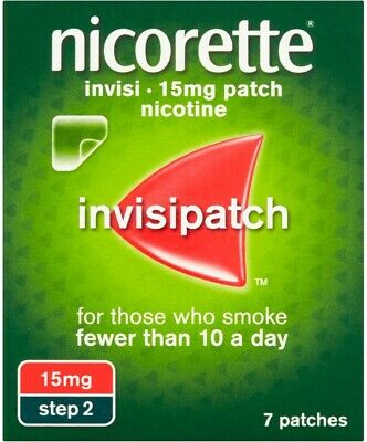 Nicorette Nicotine 15mg Invisible Patches Step 2(7) **QUIT SMOKING**