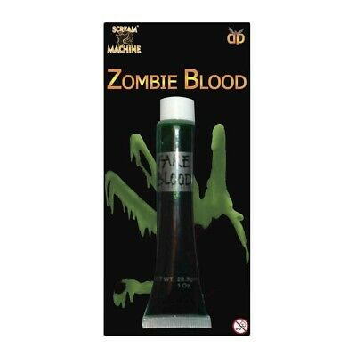 Finta Verde Zombie Sangue Hallowween Vampiro Make Up Alien Sline Costume 11582