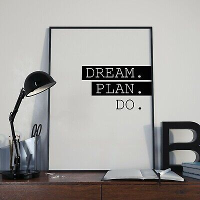 Motivational Quotes Poster - Digital Image Picture - Inspirational Dream Plan Do