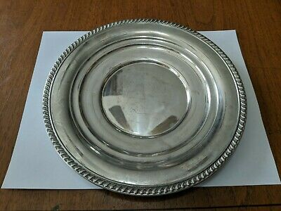 "VINTAGE ALVIN STERLING SILVER 9 1/4"" TRAY OR PLATE S233 175 Grams"